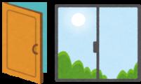 ドアと窓のイラスト