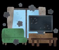 汚い部屋のイラスト