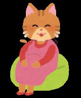 妊娠した猫のイラスト