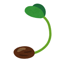 発芽のイラスト