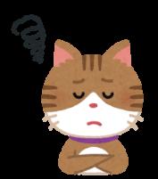 もどかしさを感じている猫のイラスト