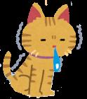 寒がっている猫のイラスト