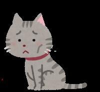 弱った猫のイラスト