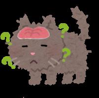 認知症の猫のイラスト