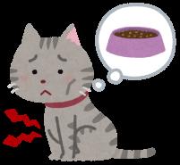 お腹が空いた猫のイラスト