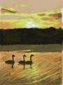 カレンダー2月 北海道 川上郡 屈斜路湖