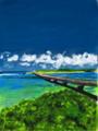 カレンダー8月 沖縄県 宮古島市 池間大橋
