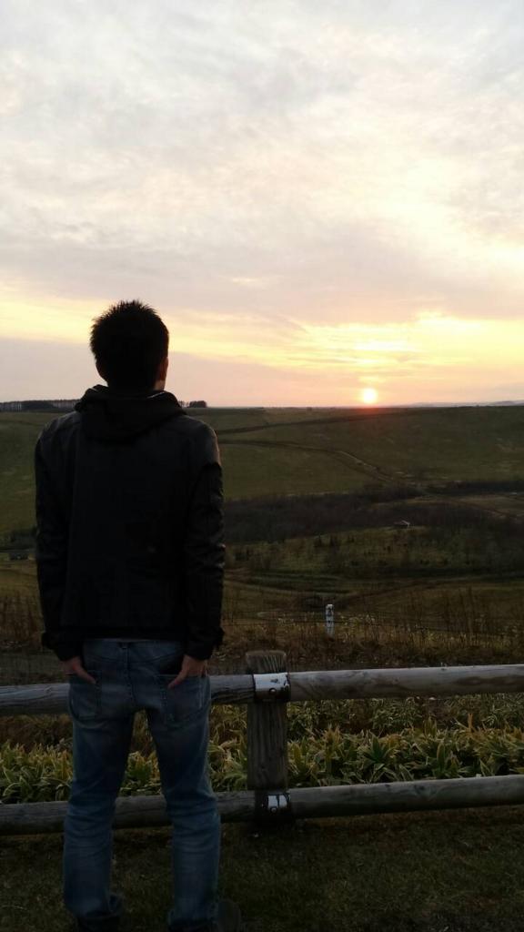 開陽台夕陽,池田町地域おこし協力隊blog