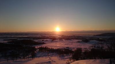 まきばの家展望台からの夕陽,池田町地域おこし協力隊blog