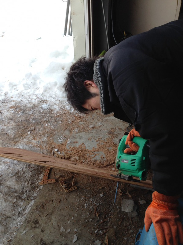 kuro隊員作業中,池田町地域おこし協力隊blog