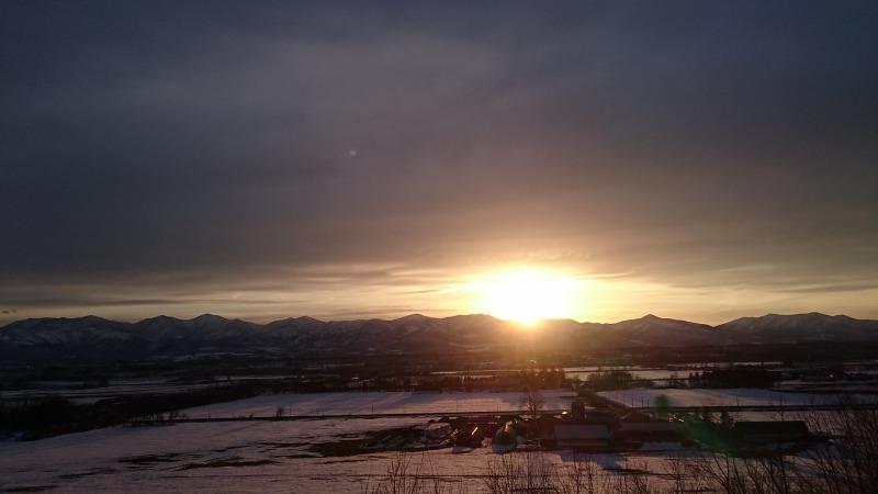 清水町美蔓パノラマパーク夕陽