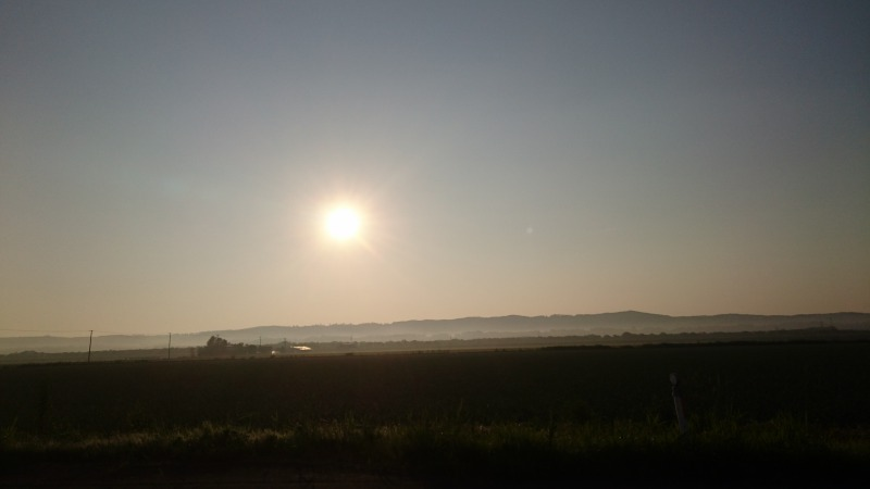 池田町青山の朝日