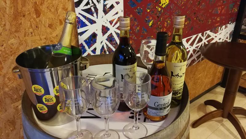 ワインカクテルBAR準備中