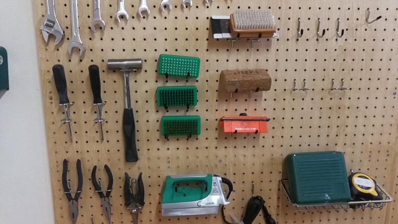 アサヒカワライド Tune-up Spaceの工具類
