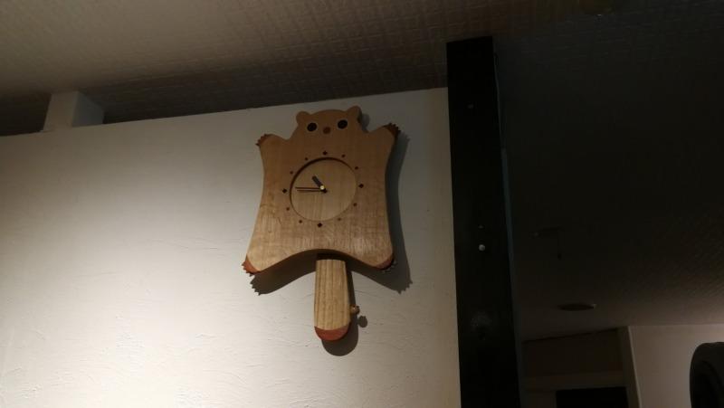エゾモモンガの時計!