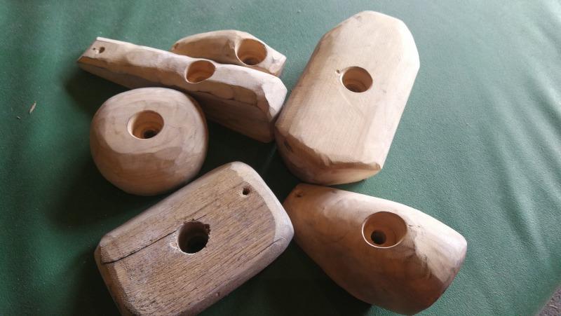 木製ホールド(ボルダリングジムRED POINT)