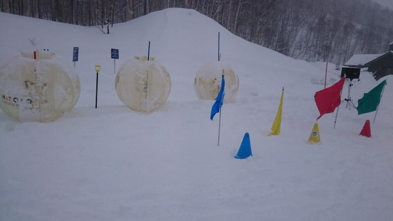 雪上バブルボール