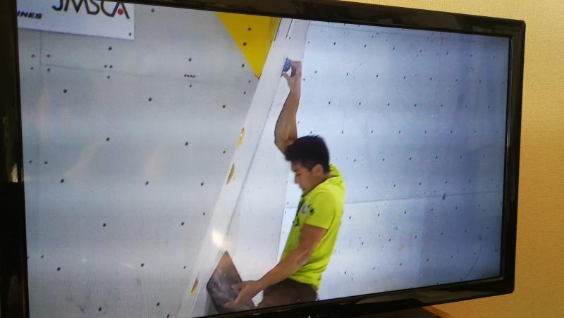 BJC2019準決勝で登る杉本玲選手