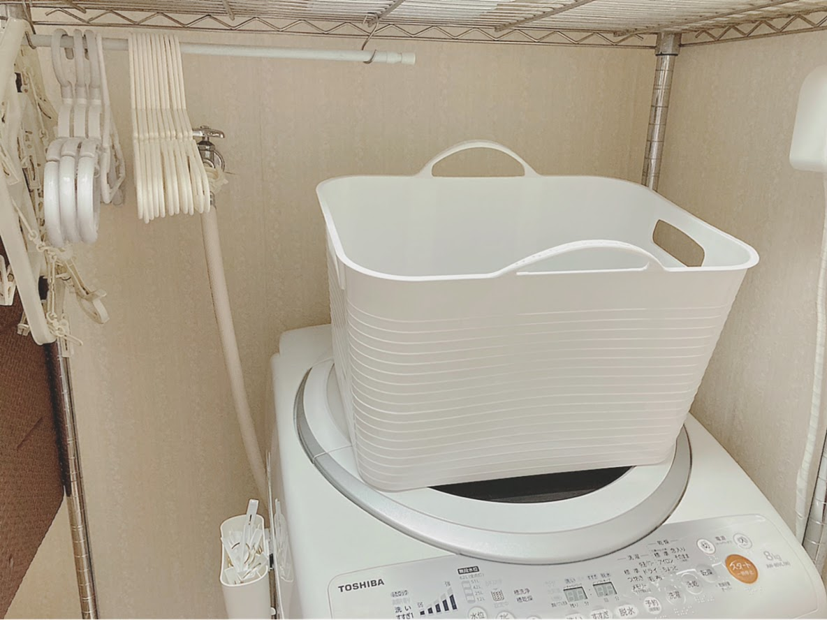 洗濯機上にランドリーボックス