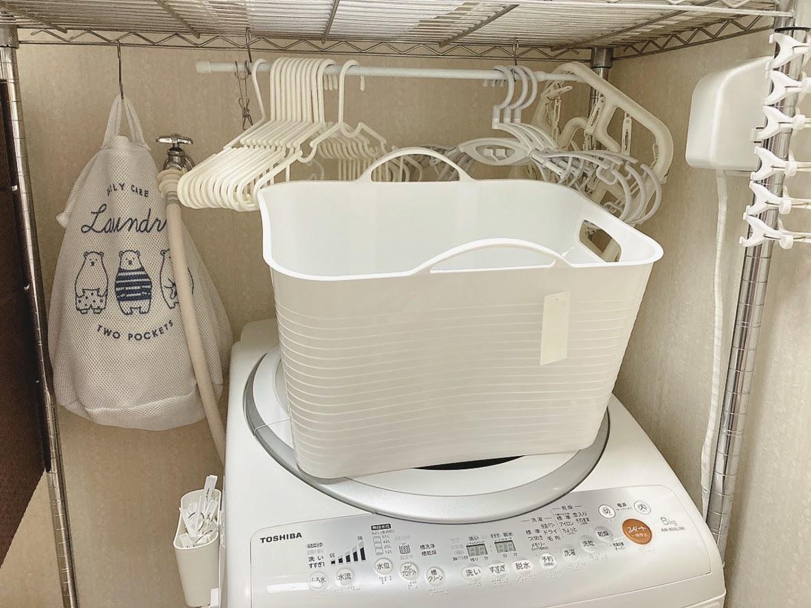 洗濯機ハンガー掛け