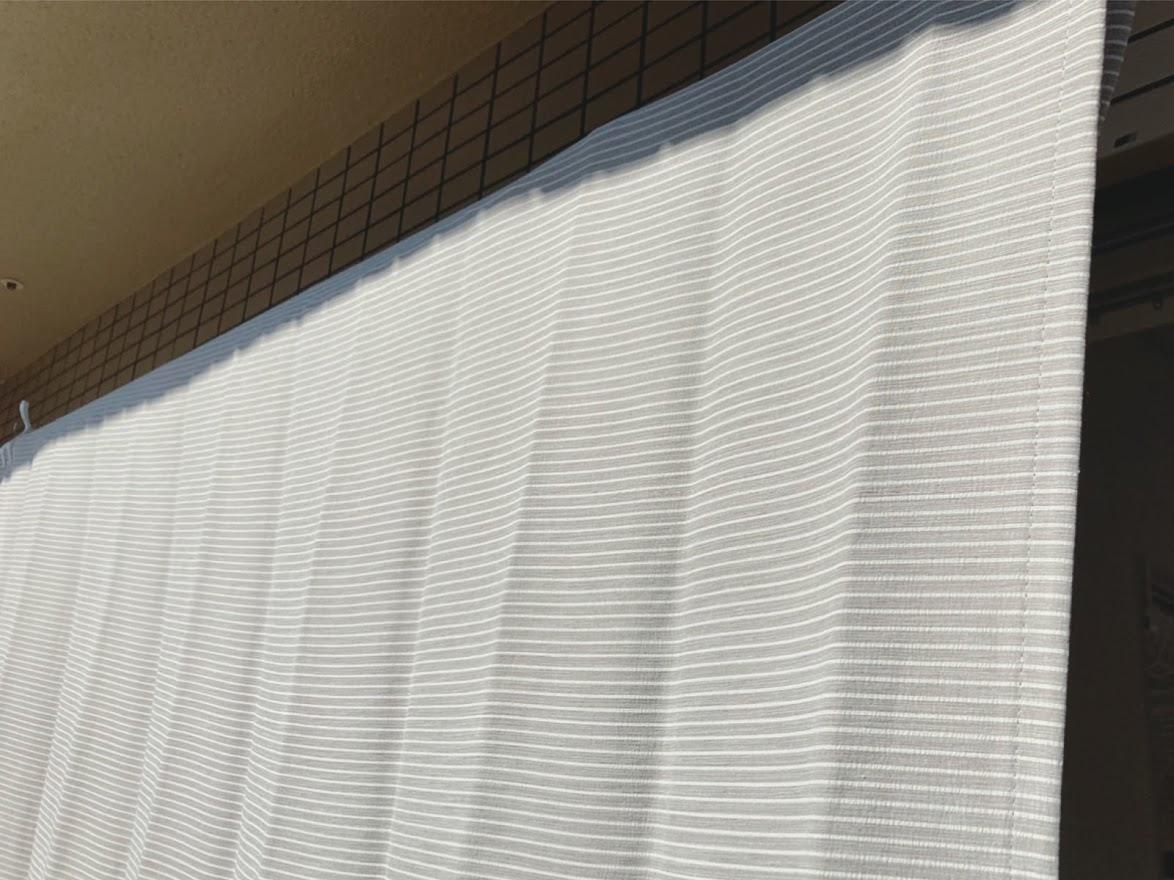 洗ったカーテン