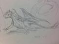 トカゲ写真集めまくった後に描いたらトカゲみたいになった
