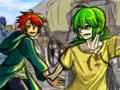 ルッツ(緑)とザシャ(赤)