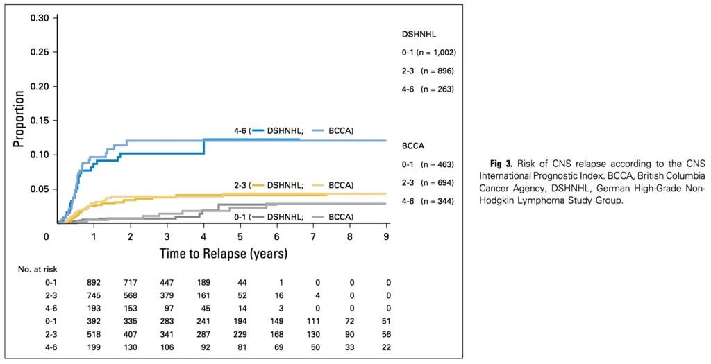 cns ipi r chopで治療されたdlbcl患者のcns再発 浸潤リスクモデル メモ帳