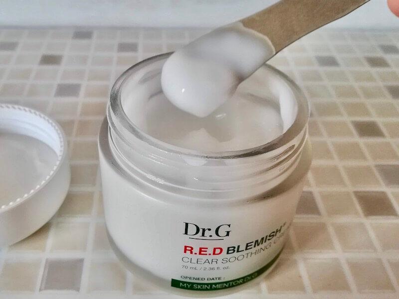 水分クリームとは?おすすめ①Dr.Gのレッドブレミッシュクリアスージングクリームイメージ