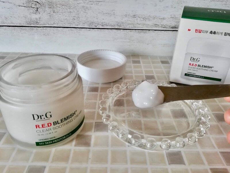水分クリームとは?おすすめ①Dr.Gのレッドブレミッシュクリアスージングクリーム 肌刺激なく使えて良き