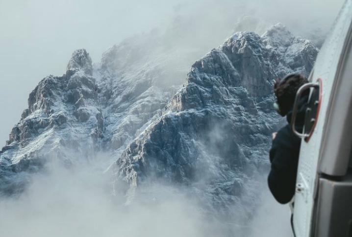 眼前にせまる雪山に対する回避行動