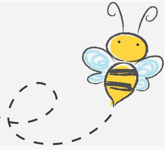 ミツバチは勤勉に餌を探し続ける。