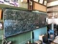 [旧木沢小学校][廃校]職員室の黒板
