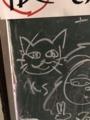 [旧木沢小学校][廃校]自由に書いていい黒板に書いた