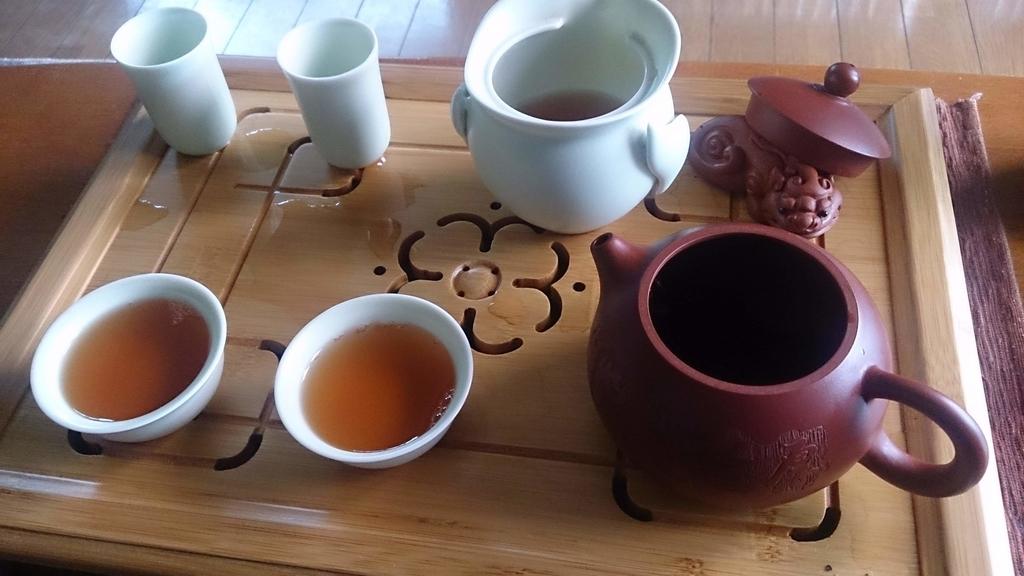 中国茶での我が家のリラックスタイム!