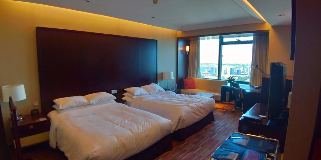 宿泊したルネッサンス中山公園ホテルの部屋、快適でした