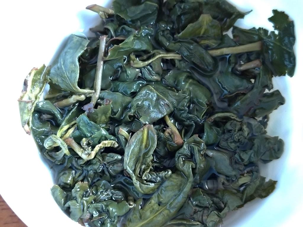 杉林渓高山茶、お湯を注いだところ