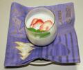 マシュマロと豆腐のババロア