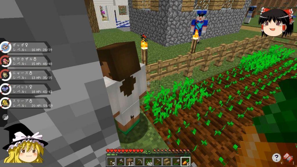 畑に泥棒がいる