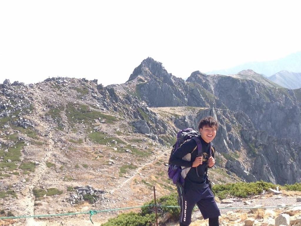 木曽駒ケ岳を登山する南蒼樹