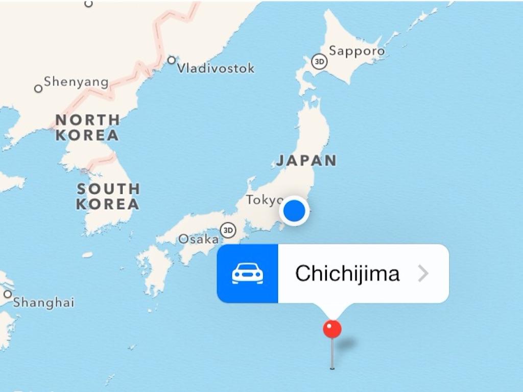 父島の場所を示した地図
