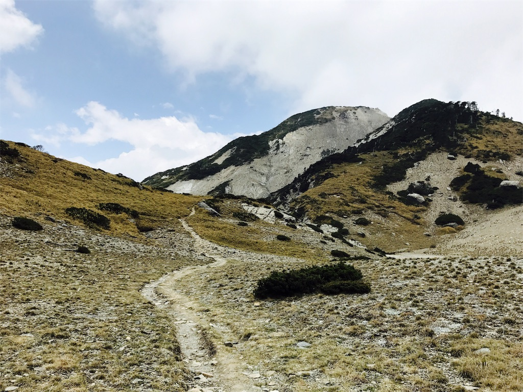 台湾・南湖大山の登山道
