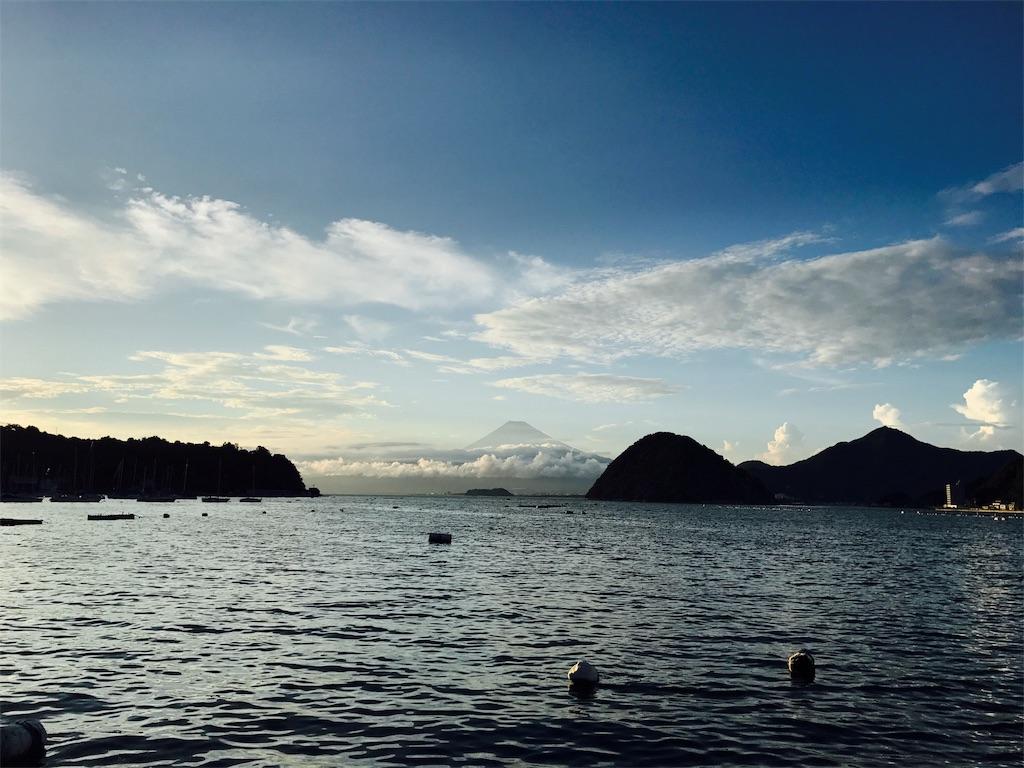 海から眺める富士山