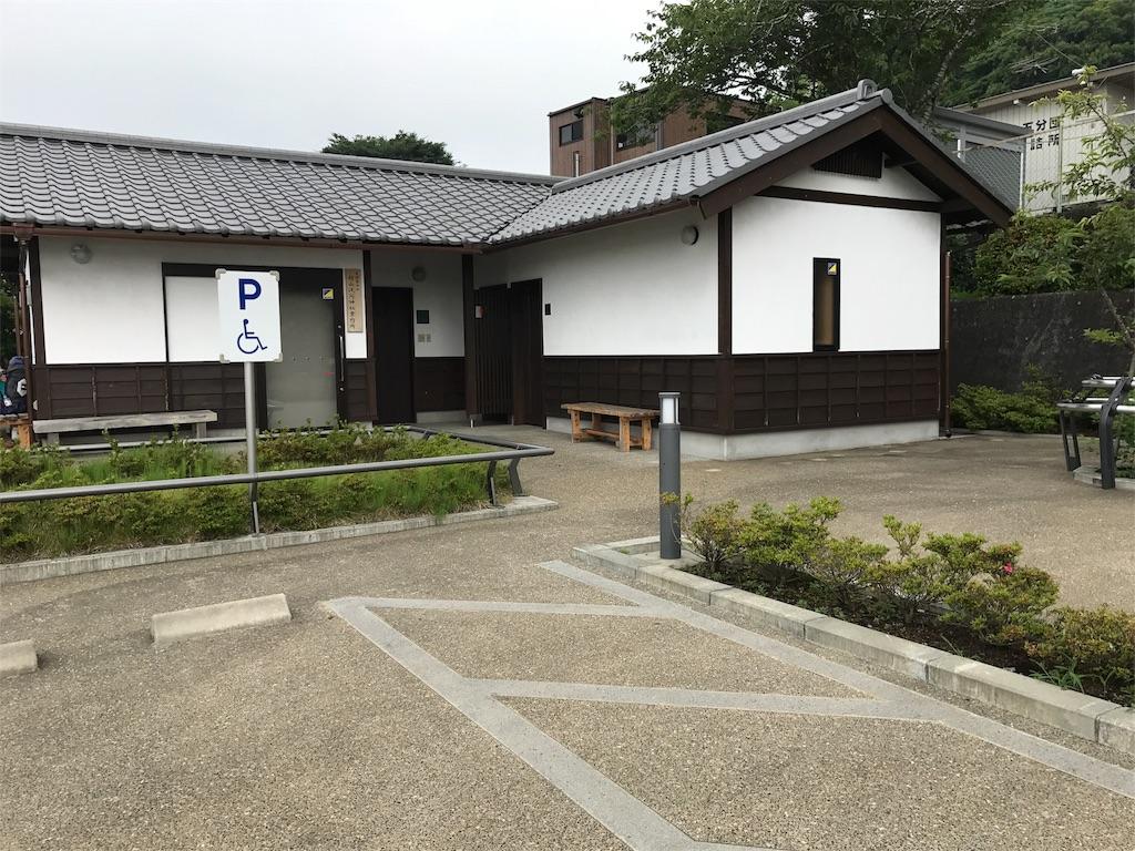 村山浅間神社の横にあるトイレ