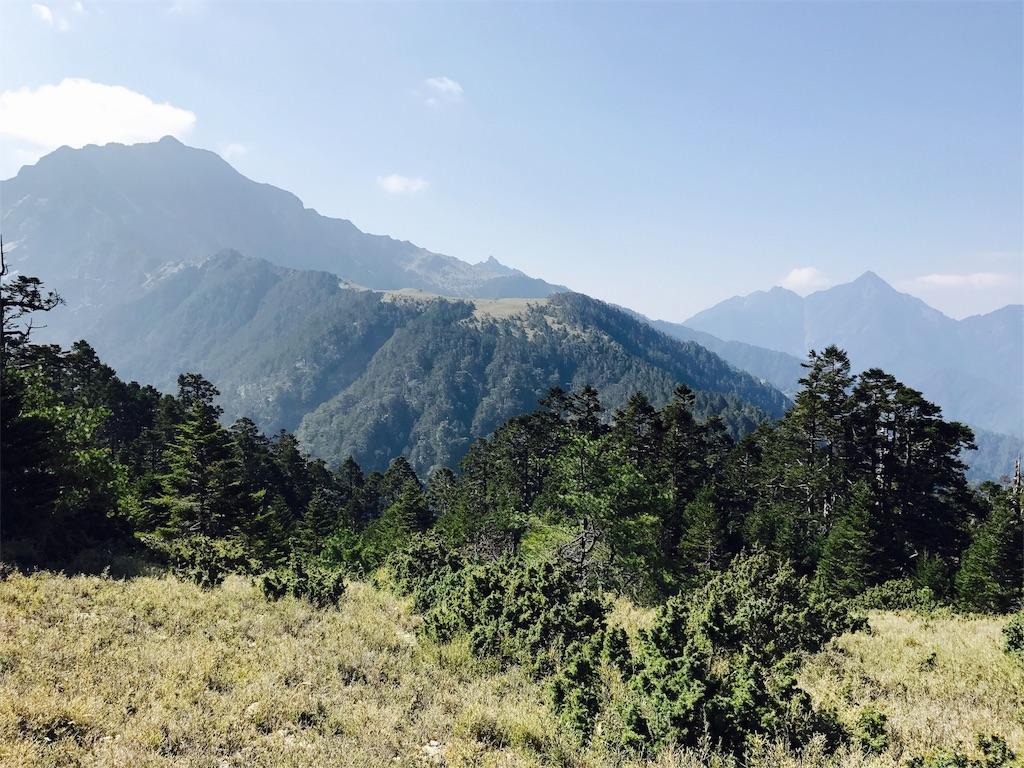 南湖大山と中央尖山