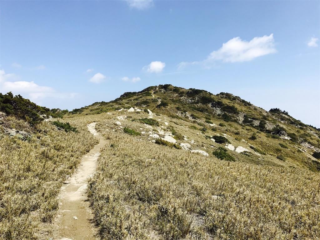 南湖大山の登山道