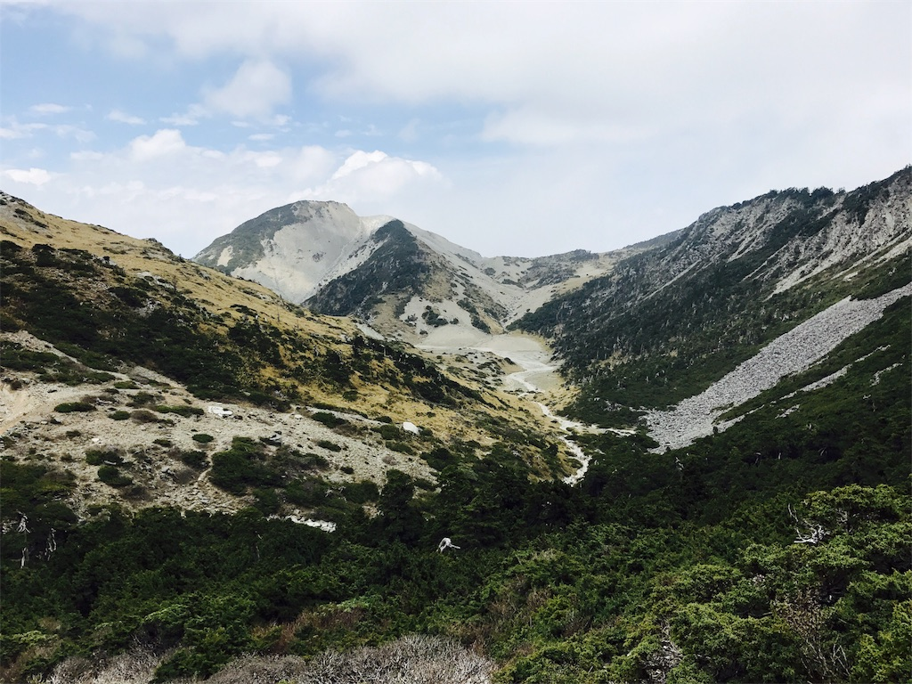 南湖大山東峰からみたカール
