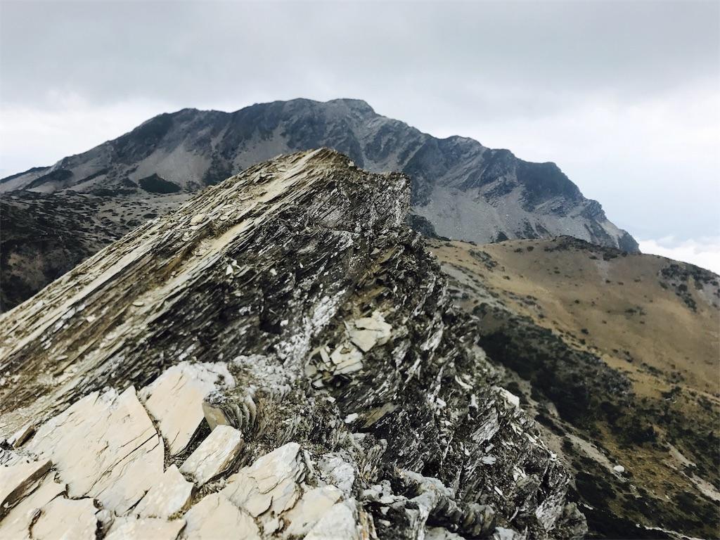 南湖大山東峰の山頂