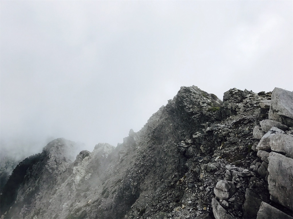 中央尖山の山頂部