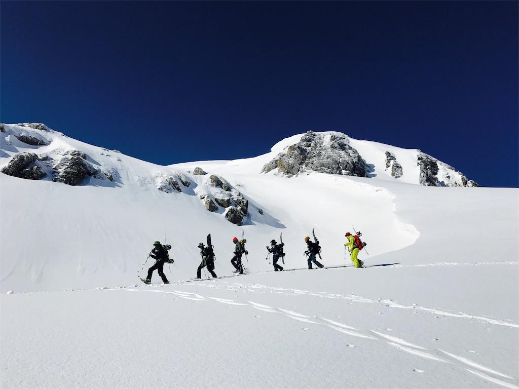 iphoneで撮影した雪山の写真